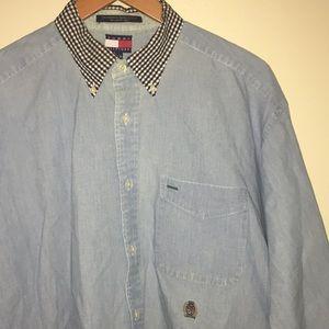 Tommy Hilifiger Vintage Button Down Shirt Sz L
